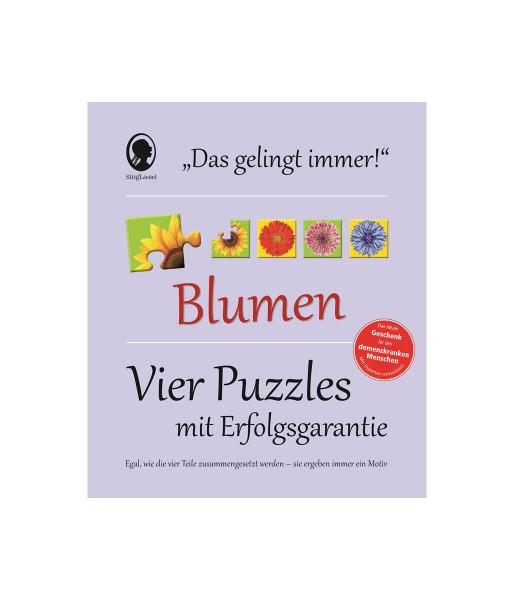 REVIVA für Menschen mit Demenz – Singliesel - Bücher. Spiele. Fortbildungen. – Gelingt-immer-Puzzle: Blumen