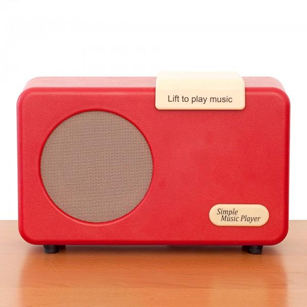 REVIVA für Menschen mit Demenz – Owen Demenz-Musik-Player – 1 Klick Musik. 1000 Lieblingsstücke - alle Funktionen voreinstellbar. (rot)