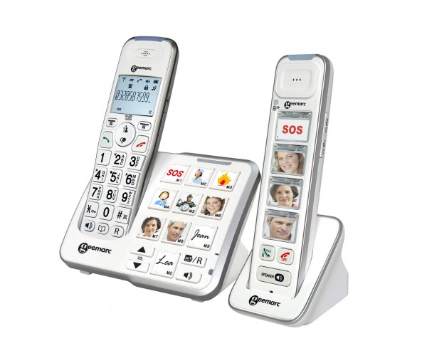 REVIVA für Menschen mit Demenz – Geemarc Kommunikation für Seh- und Hörgeschädigte – Combo Amplidect 295 Photo - Seniorentelefon mit Photo-Zusatzhörer