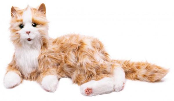 Interaktive Katze, Roboter-Katze in orange-weiss für Senioren und Menschen mit Demenz. Lebensecht...