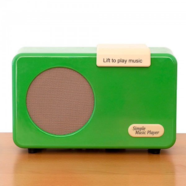 REVIVA für Menschen mit Demenz – Owen Demenz-Musik-Player – 1 Klick Musik. 1000 Lieblingsstücke - alle Funktionen voreinstellbar. (grün)