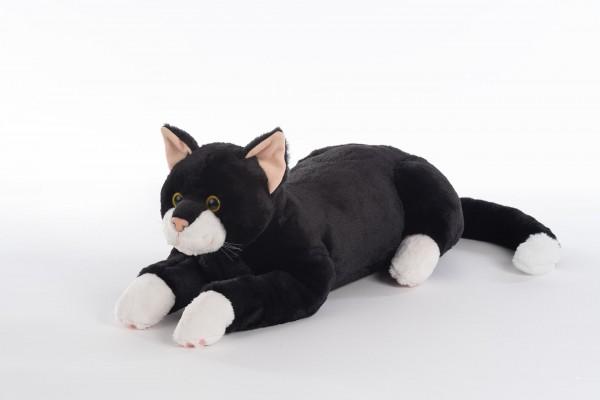 """REVIVA für Menschen mit Demenz – RobiCare Plüschtierkatze Blacky – Memory-Katze schwarz/weiss für Demenz-Patienten: """"Blacky"""""""